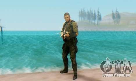 Sam Fisher - Paladin Outfit (Splinter Cell Black para GTA San Andreas por diante tela