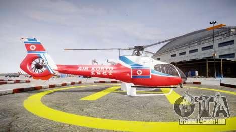 Eurocopter EC130 B4 Air Koryo para GTA 4 esquerda vista