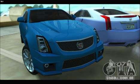 Cadillac CTS-V Coupe para GTA San Andreas esquerda vista
