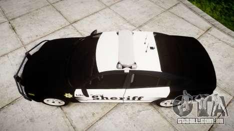 Dodge Charger 2013 County Sheriff [ELS] v3.2 para GTA 4 vista direita
