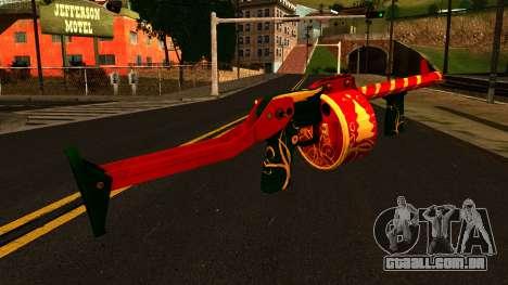 Natal Espingarda para GTA San Andreas segunda tela