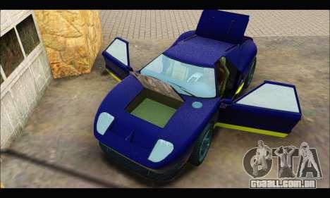 Vapid Bullet Gt (GTA IV) (LC Plate) para GTA San Andreas vista traseira