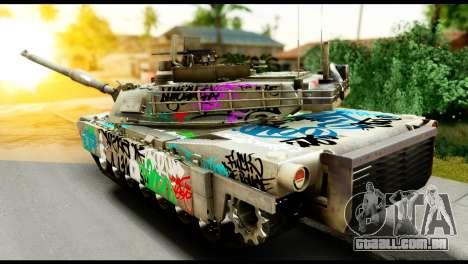 M1A2 Abrams para GTA San Andreas esquerda vista