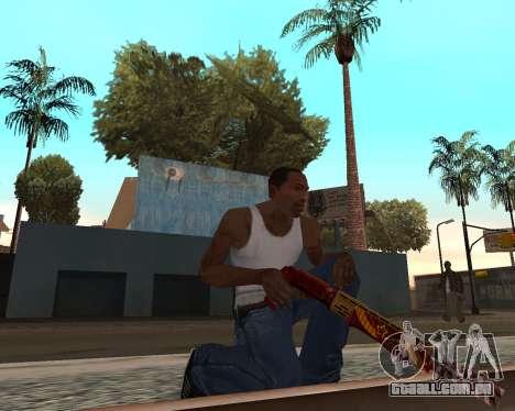 Ano novo weapon pack v2 para GTA San Andreas por diante tela