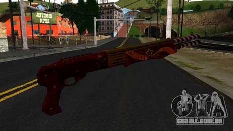 Natal Combat Shotgun para GTA San Andreas segunda tela
