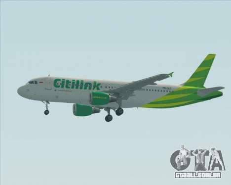 Airbus A320-200 Citilink para GTA San Andreas vista superior
