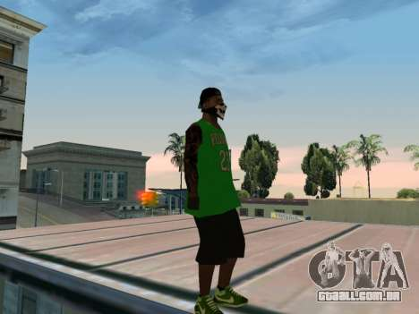 Fam3 Skin para GTA San Andreas por diante tela