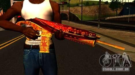 De Véspera de Ano novo Rifle de Assalto para GTA San Andreas terceira tela