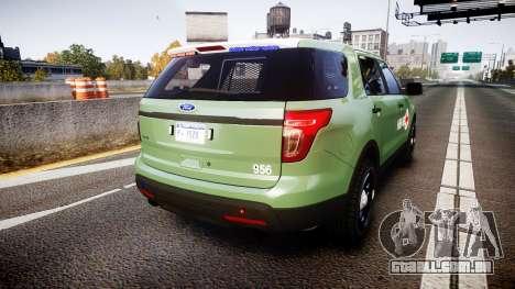 Ford Explorer 2013 Army [ELS] para GTA 4 traseira esquerda vista