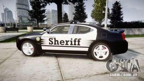 Dodge Charger SRT8 2010 Sheriff [ELS] rambar para GTA 4 esquerda vista