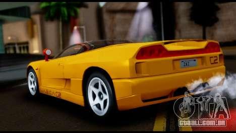 BMW Italdesign Nazca C2 1991 para GTA San Andreas esquerda vista