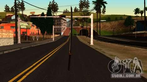 Katana from Shadow Warrior para GTA San Andreas segunda tela
