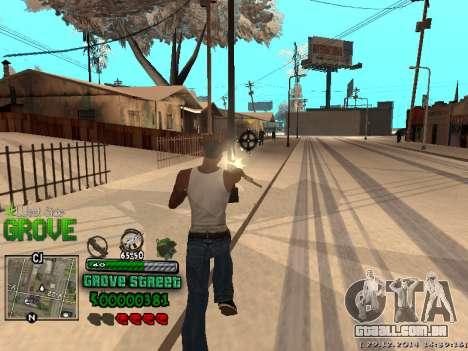C-HUD Grove Street para GTA San Andreas décimo tela