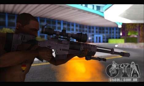Raab KM50 Sniper Rifle From F.E.A.R. 2 para GTA San Andreas quinto tela