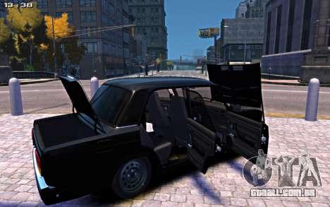 VAZ 2107 para GTA 4 vista de volta
