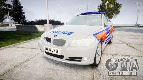 BMW 325d E91 2010 Metropolitan Police [ELS] para GTA 4