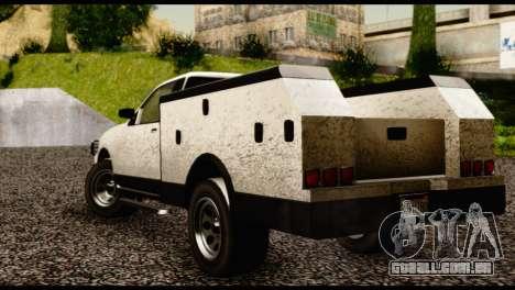 Utility Van from GTA 5 para GTA San Andreas esquerda vista