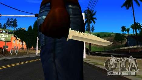 Knife from GTA 4 para GTA San Andreas terceira tela
