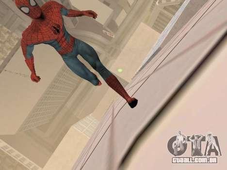 Spiderman 3 Crawling para GTA San Andreas por diante tela