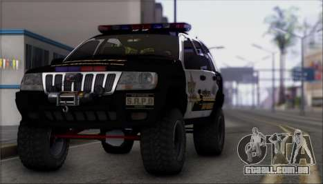 Jeep Grand Cherokee 1999 Sheriff para GTA San Andreas vista direita