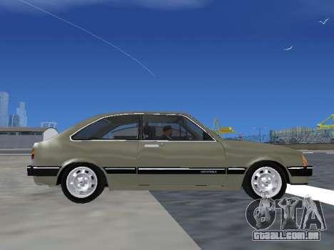 Chevrolet Chevette Hatch para GTA San Andreas vista traseira