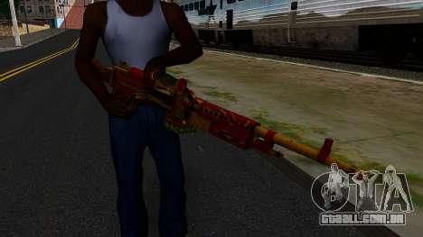 Natal Minigun para GTA San Andreas terceira tela