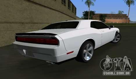 Dodge Challenger SRT para GTA Vice City vista traseira esquerda