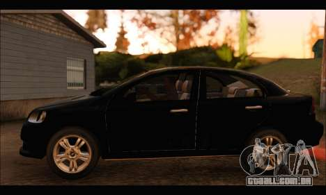 Chevrolet Aveo LT 2010 para GTA San Andreas traseira esquerda vista