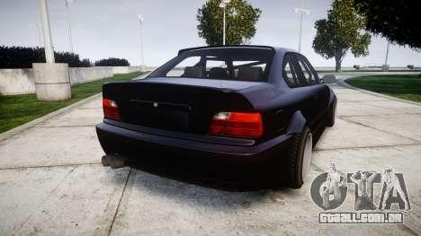 BMW E36 M3 Duck Edition para GTA 4 traseira esquerda vista