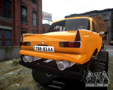Moskvich 412 Monstro para GTA 4 vista de volta