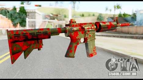 M4 with Blood para GTA San Andreas segunda tela