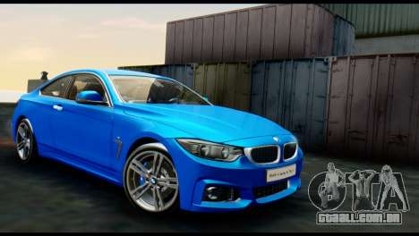 BMW 4-Series Coupe M Sport 2014 para GTA San Andreas