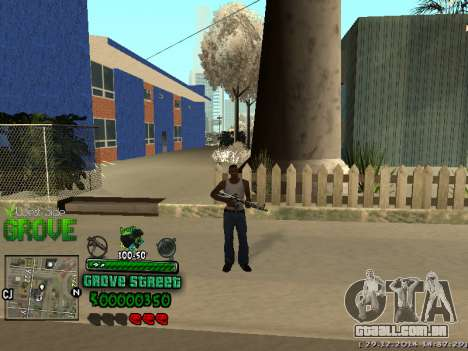 C-HUD Grove Street para GTA San Andreas