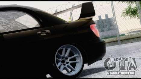 Subaru Impreza Hellaflush 2004 para GTA San Andreas vista traseira