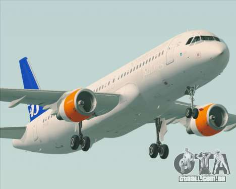 Airbus A320-200 Scandinavian Airlines - SAS para as rodas de GTA San Andreas