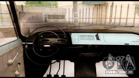 Moskvich 408 para GTA San Andreas vista traseira