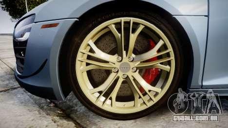 Audi R8 competition 2015 [EPM] para GTA 4 vista de volta