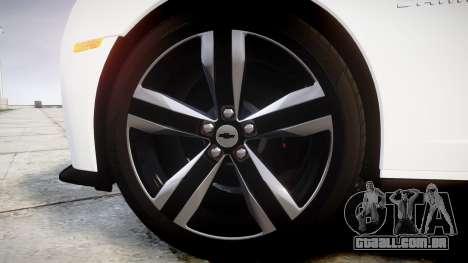 Chevrolet Camaro ZL1 2012 Redline para GTA 4 vista de volta