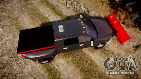 Dodge Ram 3500 Plow Truck [ELS] para GTA 4 vista direita