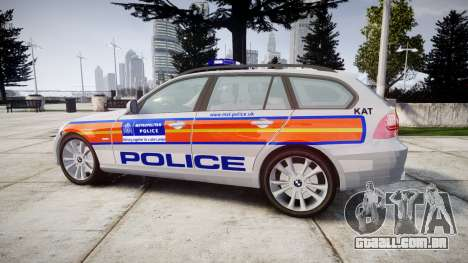 BMW 325d E91 2010 Metropolitan Police [ELS] para GTA 4 esquerda vista