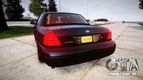 Ford Crown Victoria Police Interceptor [Retired] para GTA 4 traseira esquerda vista