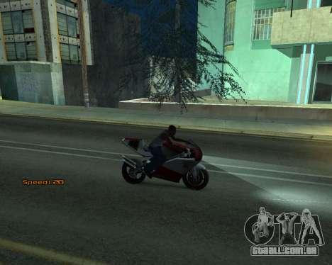 Car Speed para GTA San Andreas quinto tela