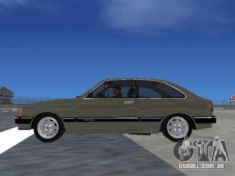 Chevrolet Chevette Hatch para GTA San Andreas vista direita