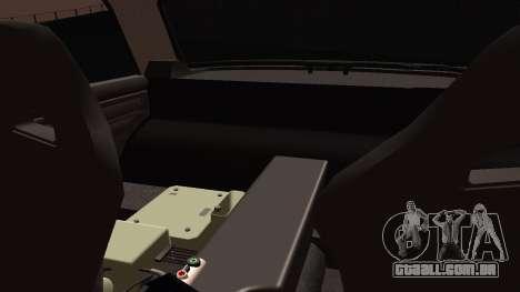 2105 cookie monster para GTA San Andreas vista traseira