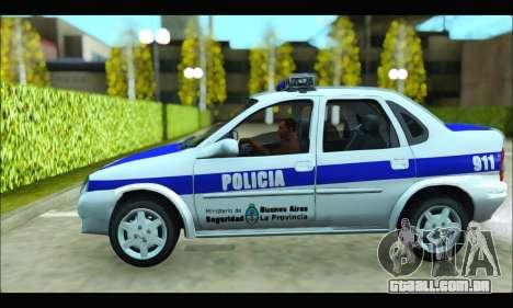Chevrolet Corsa Policia Bonaerense para GTA San Andreas esquerda vista