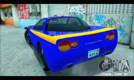 Coquette (GTA IV) para GTA San Andreas traseira esquerda vista