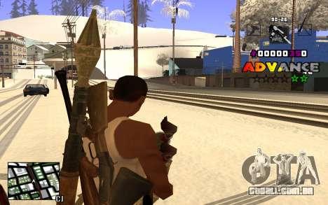 C-HUD Advance RP para GTA San Andreas terceira tela