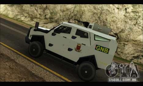 Oshkosh Sand Cat GNB para GTA San Andreas vista traseira