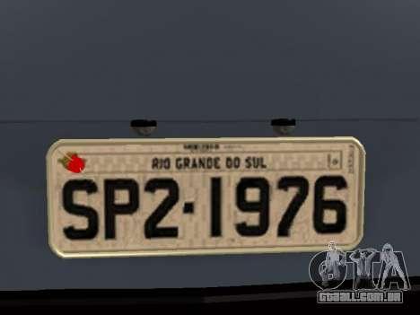 Volkswagen SP2 Original para GTA San Andreas vista superior