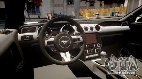 Ford Mustang GT 2015 Custom Kit gray stripes para GTA 4 vista interior